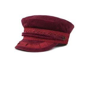 NWT brixton Albany burgundy hat